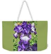 Double Ruffled Purple Iris Weekender Tote Bag