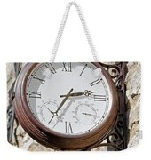 Double Sided Station Clock - Bakewell Weekender Tote Bag