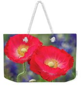 Double Take-two Red Poppies. Weekender Tote Bag