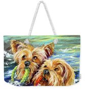 Double The Trouble Weekender Tote Bag