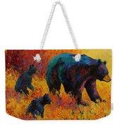 Double Trouble - Black Bear Family Weekender Tote Bag