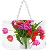 Double Tulips Bouquet Weekender Tote Bag