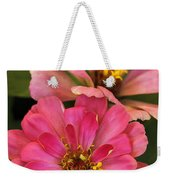 Double Vision In Pink Weekender Tote Bag