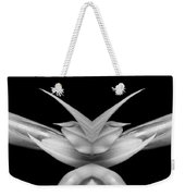 Double Vison Close-up Of Amaryllis Bloom Bw Weekender Tote Bag