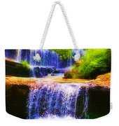 Double Waterfall Weekender Tote Bag by Bill Cannon