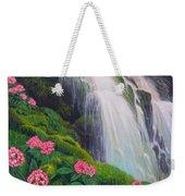 Double Hawaii Waterfall Weekender Tote Bag