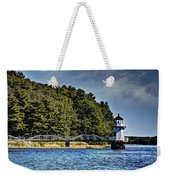 Doubling Point Lighthouse Weekender Tote Bag