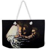 Doubting Thomas Weekender Tote Bag by Clyde J Kell