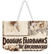 Douglas Fairbanks In The Knickerbocker Buckaroo 1919 Weekender Tote Bag