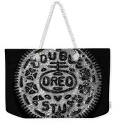 Doulble Stuff Oreo In Black And White Weekender Tote Bag