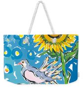 Dove And Sunflower Weekender Tote Bag