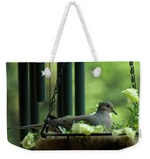 Dove Nesting, Balcony Garden, Hunter Hill, Hagerstown, Maryland, Weekender Tote Bag