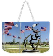 Doves And Flags Weekender Tote Bag