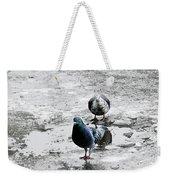 Doves On The Street Weekender Tote Bag