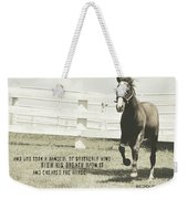 Down And Back Quote Weekender Tote Bag