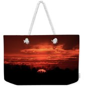 Down For The Count Sunset Art Weekender Tote Bag