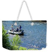 Down River Fly Fishing Weekender Tote Bag