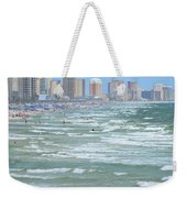 Down The Beach Weekender Tote Bag
