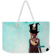 Down The Rabbit Hole Weekender Tote Bag by Sharon Cummings