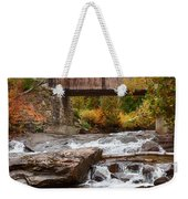 Down The Road To Greenbanks's Hollow Covered Bridge Weekender Tote Bag