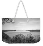 Down The Susquehanna_bw Weekender Tote Bag