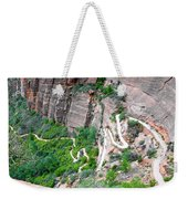 Downhill Switchbacks From Angels Landing Weekender Tote Bag