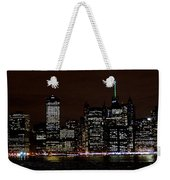 Downtown At Night Weekender Tote Bag