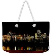 Downtown Calgary At Night Weekender Tote Bag