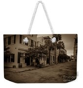 Vintage Downtown Charleston South Carolina Weekender Tote Bag