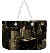 Downtown Chicago At Sunset Weekender Tote Bag