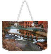 Downtown Greenville On The River Winter Weekender Tote Bag