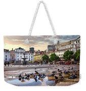 Downtown Lisbon Weekender Tote Bag by Carlos Caetano