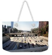 Downtown Los Angeles. 110 Freeway And Wilshire Bl Weekender Tote Bag