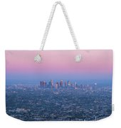 Downtown Los Angeles Skyline At Sunset Weekender Tote Bag