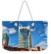 Downtown Nashville Blue Sky Weekender Tote Bag