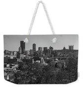 Downtown Pittsburgh In Black And White Weekender Tote Bag