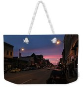Downtown Racine At Dusk Weekender Tote Bag
