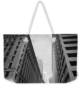 Downtown San Francisco Street View - Black And White 2 Weekender Tote Bag