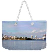 Downtown Tampa With Cruise Ship Weekender Tote Bag