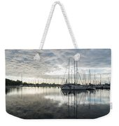 Downy Soft Clouds At The Marina Weekender Tote Bag