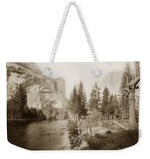 Domes And Royal Arches From Merced River Yosemite Valley Calif. Circa 1890 Weekender Tote Bag