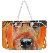 Dr. Dog Weekender Tote Bag by Michelle Hayden-Marsan