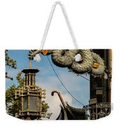 Dragon And Umbrella Sing In Barcelona Weekender Tote Bag