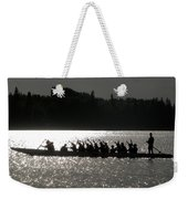 Dragon Boat Silhouette Weekender Tote Bag by Stuart Turnbull