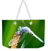 Dragonfly Blue Weekender Tote Bag