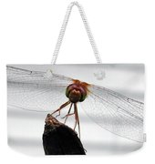 Dragonfly Face Weekender Tote Bag