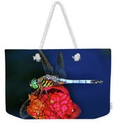 Dragonfly On A Pitcher Plant 009 Weekender Tote Bag