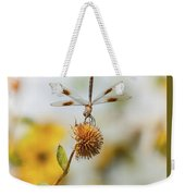Dragonfly On Dead Bud Weekender Tote Bag