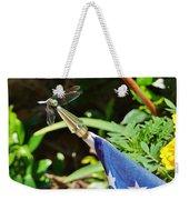 Dragonfly On Flag Weekender Tote Bag