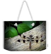 Dragonfly On Log Weekender Tote Bag